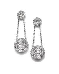 Phillips House - Metallic Affair Diamond & 14k White Gold Infinity Double-drop Earrings - Lyst