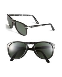 Persol | Black '714' 57mm Folding Polarized Keyhole Sunglasses for Men | Lyst