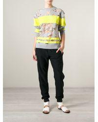 Alexander Wang - Gray Burn Out Wool-Blend Sweater - Lyst
