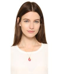 Aurelie Bidermann - Lacquered Shell Necklace With Elephant Charm - Lyst