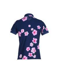 Sun 68 - Metallic Polo Shirt - Lyst