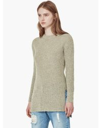 Mango - Brown Flecked Sweater - Lyst