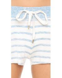 Splendid - White Lounge Shorts - Lyst