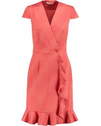 Matthew Williamson | Orange Jacquard Wrap Dress | Lyst
