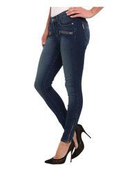 PAIGE - Blue Jane Zip Ultra Skinny Jean in Easton No Whiskers - Lyst