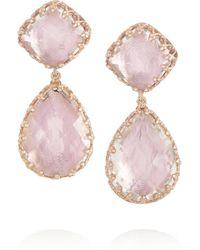 Larkspur & Hawk   Pink Large Jane Rose Golddipped Topaz Earrings   Lyst
