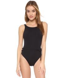 Proenza Schouler - Black Solids Belted Maillot - Lyst