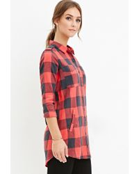 Forever 21 - Blue Tartan Plaid Shirt You've Been Added To The Waitlist - Lyst