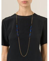 Isabel Marant - Blue Sautoir Necklace - Lyst