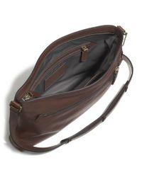COACH - Brown Bleecker Zip Top Crossbody In Leather for Men - Lyst