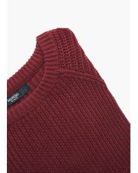 Mango | Purple Ribbed Cotton-blend Sweater | Lyst