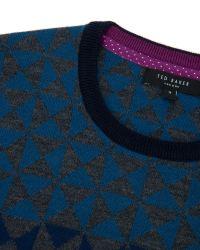 Ted Baker   Blue Zano Ombre Pattern Wool Jumper for Men   Lyst