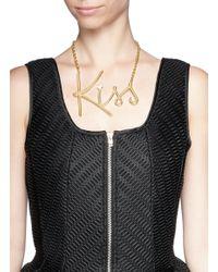 Lanvin   Metallic 'kiss' Necklace   Lyst