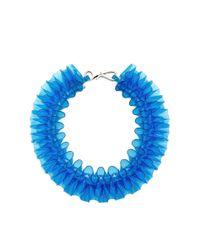 Mary Katrantzou | Blue Pvc Ruffle Collar Necklace | Lyst