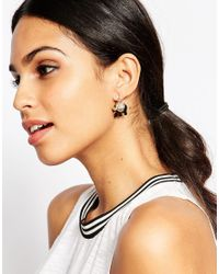 ALDO - Metallic Matza Elephant Earrings - Lyst