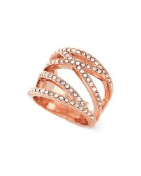 Vince Camuto - Metallic Negative Space Pave Ring - Lyst