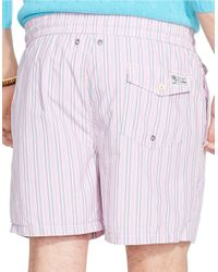 Polo Ralph Lauren | Pink Traveler Striped Swim Shorts for Men | Lyst