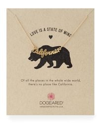 Dogeared - Metallic Gold-dipped California Script Necklace - Lyst