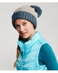 Aéropostale | Blue Colorblocked Pom Hat | Lyst