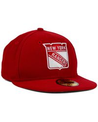 KTZ | Red New York Rangers C-dub 59fifty Cap for Men | Lyst