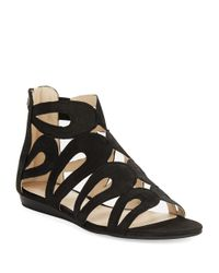 Nine West | Black Turntable Leather Gladiator Sandals | Lyst