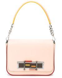 Fendi - Pink Baguette Leather Shoulder Bag  - Lyst