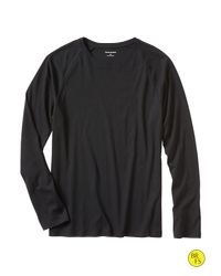 Banana Republic | Black Factory Fitted Crew-neck Tee for Men | Lyst