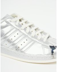 Adidas | Originals Superstar 80's Silver Metallic Trainers | Lyst