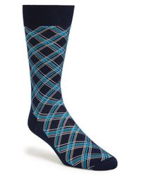 Canali - Black Argyle Socks for Men - Lyst