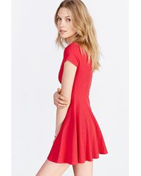 BDG | Red Jackie Flare Tee Dress | Lyst