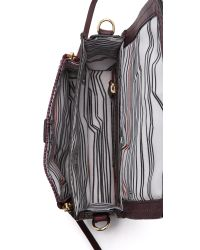 She + Lo - Red Silver Lining Camera Bag - Bordeaux - Lyst