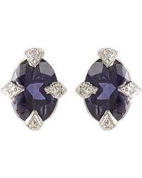 Cathy Waterman - Purple Diamond, Iolite & Platinum Studs - Lyst