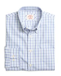 Brooks Brothers - Blue Organic Cotton Check Sport Shirt for Men - Lyst