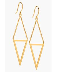 Gorjana | Metallic 'mika' Cutout Drop Earrings | Lyst