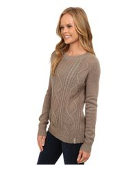 Woolrich - Brown Cable Mohair Sweater - Lyst