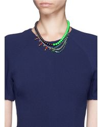 Joomi Lim - Green Crystal Bead Double Strand Necklace - Lyst