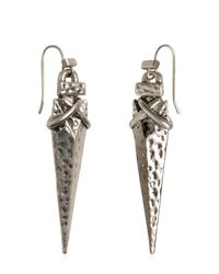 Tory Burch - Metallic Arrowhead Drop Earrings - Lyst