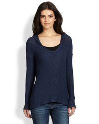 Splendid | Blue Las Palmas Hooded Sweater | Lyst