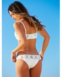 Free People | White Daisy Cheeky Bottom Daisy Crop Bikini Top | Lyst