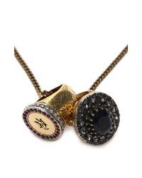 Alexander McQueen - Metallic Ring Necklace - Lyst