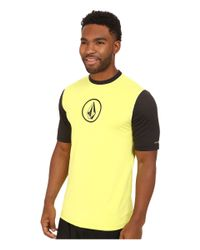 Volcom - Black Heather Short Sleeve Top for Men - Lyst