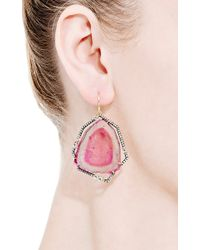 Jemma Wynne - Pink One Of A Kind Bicolor Tourmaline Slice Earrings - Lyst