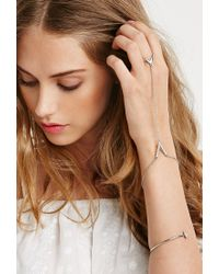 Forever 21 | Metallic Triangle Hand Chain Set | Lyst