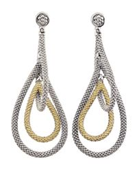 Lagos | Metallic 18k Gold & Sterling Silver Soiree Caviar Tiered Drop Earrings | Lyst