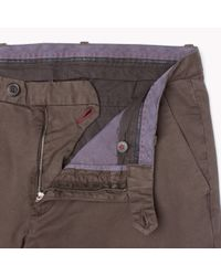 Tommy Hilfiger | Brown Twill Slim Fit Chino for Men | Lyst