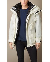 Burberry | White Two-Layer Showerproof Parka for Men | Lyst