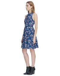 Rebecca Taylor | Blue Sleeveless Mystic Garden Print Twist Dress | Lyst