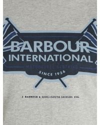Barbour - Gray T-shirt for Men - Lyst