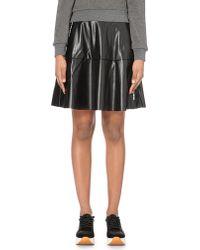 5cm | Black Faux-leather Skater Skirt | Lyst
