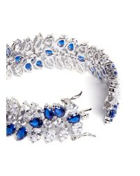 CZ by Kenneth Jay Lane | Blue Vine Deco Cubic Zirconia Bracelet | Lyst